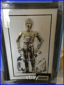 Jj Adams'c3po' Rare Very Low Numbered Limited Print Framed + Coa New