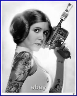 Jj Adams'princess Leia' Rare Limited Star Wars Framed Print + New + Coa