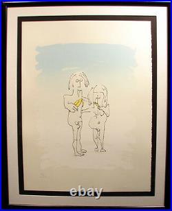 John Lennon Art Original LIMITED EDITION TWO VIRGINS GALLERY FRAMED ORIG COA