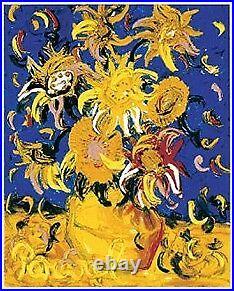 John PERCEVAL'Sunflowers' limited edition signed print + COA Modern Art