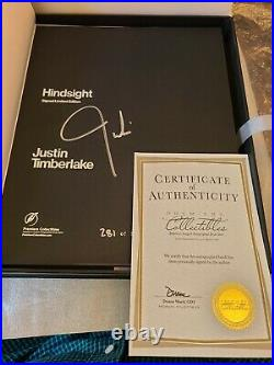 Justin Timberlake Signed Special Limited Edition Book Hindsight #281/500 COA