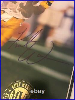KURT WARNER 1999 MVP 16 x 20 Limited Edition #/213 Signed Auto Framed UDA COA