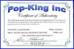 LADY & TRAMP Limited Edition ANIMATION CEL 11x14 SIGNED 3 OLD MEN COA Disney
