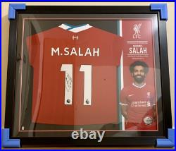 LFC Liverpool FC Issued Signed Salah 20/21 Framed Shirt COA LIMITED EDITION