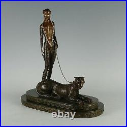La Femme a la Panthere (Bronze), Limited Edition, Erte MINT CONDITION with COA