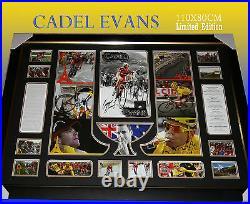 Large Frame Of Cadel Evans Tour De France Winner Memorabilia Limited To 499 Coa
