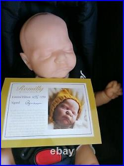 Limited edition reborn doll, Romilly by cassie brace with signed Coa