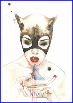 Lora Zombie Catwoman Print Limited Edition Of 175 Signed & Numbered Coa