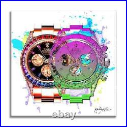 Luxury Watch Future, Limited Edition Print on Canvas, Signed, Pop Art, COA