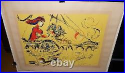 Marc Chagall Isle Of St Louis Limited Edition Plate Signed Lithograph With Coa