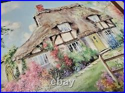 Marty Bell 1991 Blossom Lane Painting Framed with COA Collectors Society Limited