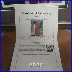 Michael Breyette Homoerotic Art Limited Edition COA Signed Numbered Print Framed