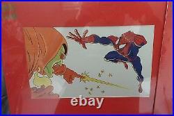 Mint Spider-man Stan Lee Signed Matted Cel Cell /4200 Limited Set Coa Marvel