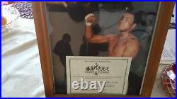 Muhammad Ali signed everlast speed bag limited edition #53 of 100 coa & picture