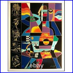 Neal Doty Man of Colors Limited Edition Serigraph + COA Certificate Authenticity