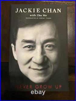 Never Grow Up SIGNED Jackie Chan 1st Limited Ed HBDJ with Slipcase NEW + COA