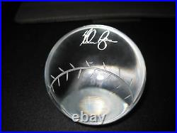 Nolan Ryan RARE Limited Edition Engraved Signed Leaded Crystal BBall 142/500 COA