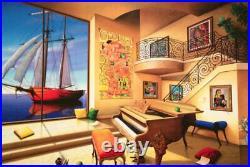 ORLANDO QUEVEDO -Highly Collectible Limited Edition color giclee on canvas, COA