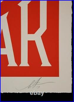 Original Limited Edition Shepard Fairey Obey Make Art Not War Dated Signed Coa
