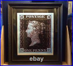 Penny Black Blue By Simon Claridge Framed Signed Limited Edition of 95 with COA