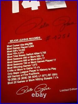 Pete Rose Autographed Limited Edition RARE #406/500 Reds Jersey! JSA COA! MINT