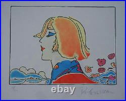 Peter Max The Young Prince Framed Limited Edition Lithograph Hand Signed COA