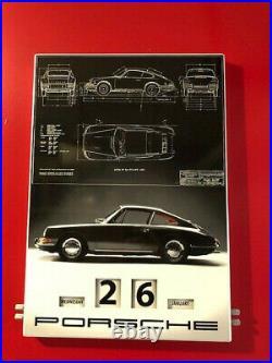 Porsche Oem Limited Edition Enamel Calendar Sign Collection, Coa