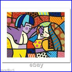 ROMERO BRITTO FIRST LOVE NEW LIMITED EDITION SERIGRAPH ON PAPER WithCOA