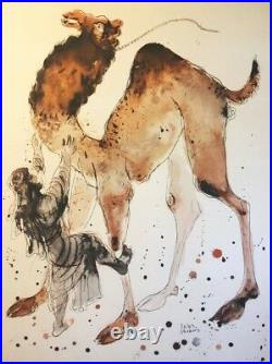 Reuven Rubin Large Original Pochoir on Lithograph, Israel, COA, Jewish, Limited
