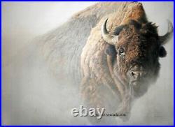 Robert BATEMAN Chief American Bison Limited Edition art print COA Buffalo AP