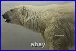 Robert BATEMAN Polar Bear Profile Limited Giclee Canvas art stretched COA