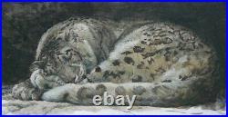 Robert BATEMAN Sleeping Snow Leopard Limited Edition art Print New in folder COA