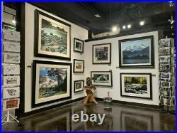 Robert BATEMAN Snow Leopard Limited Edition art Giclee Canvas COA High Kingdom