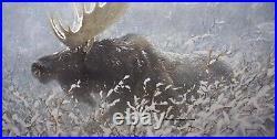 Robert BATEMAN Winter Run Bull Moose Limited Edition art print SIGNED COA