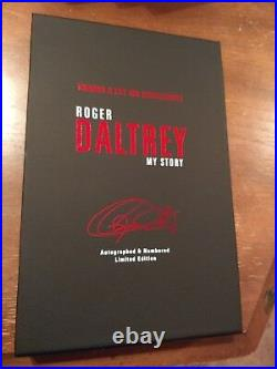 Roger Daltrey signed book The Who Autographed Collectors Numbered Limited + COA