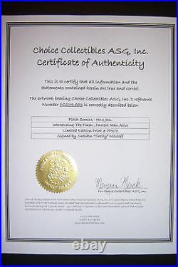 SHELDON MOLDOFF signed Limited Edn. PP 3/3 FLASH COMIC #1 withCOA framed