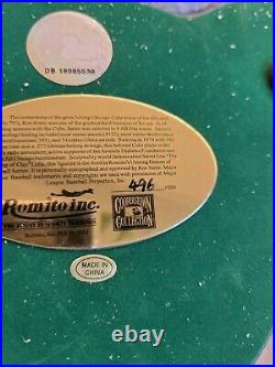 SIGNED RON SANTO ROMITO FIGURINE Limited Edition #496/500 Chicago Cubs with COA