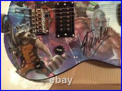 SIGNED by Stan Lee Guardians Of The Galaxy Peavey Guitar Marvel Limited COA