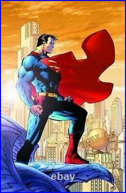 SUPERMAN GICLEE CANVAS PRINT LIMITED TO 100 PIECES Rare COA SIGNED JIM LEE