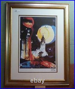 Salvador Dali Manhattan Skyline Framed Limited Edition W Coa Museum Quality