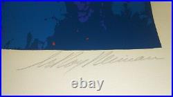 Satellite Football (1982) Limited Edition Serigraph Leroy Neiman Hand Signed COA