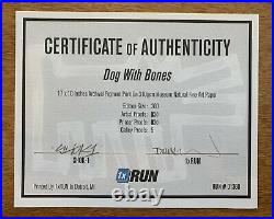 Shok-1 Dog With Bones Signed Sold Out Limited Edition + COA Haring Banksy Dog