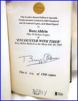 Signed BUZZ ALDRIN Encounter With Tiber Limited Hardcover BOOK Beckett BAS Coa