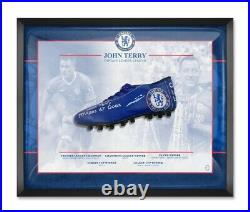 Signed John Terry Chelsea Fc Boot Framed With Proof Limited Edition AFTAL coa