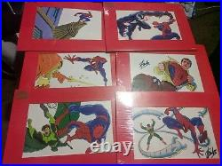 Stan Lee Signed Autograph Marvel Spiderman Matted Cel Cell /4200 Limited Set Coa