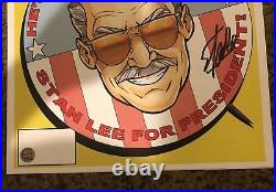 Stan Lee for President Litho Signed by Stan Lee with COA Limited CAPTAIN AMERICA