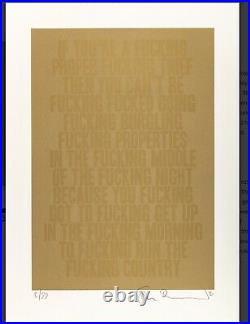 Stanley Donwood Fucking Thief hand signed limited edition print xx/99 with COA