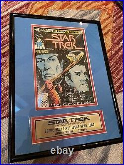 Star Trek Nimoy/Shatner SIGNED Framed Marvel Comic Book Limited Ed. 572/980 COA