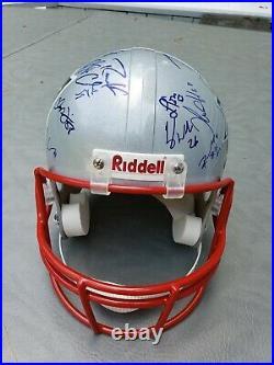 Superbowl 39 New England Patriots Signed Helmet Tom Brady & 14 more COA 75 limit