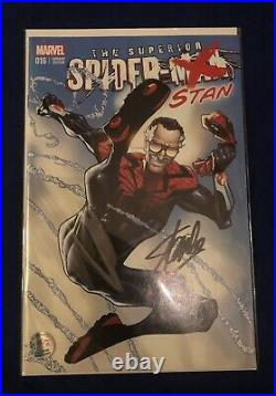 Superior Spider-Man #16 (STAN) Color Variant Signed by Stan Lee with COA Limited